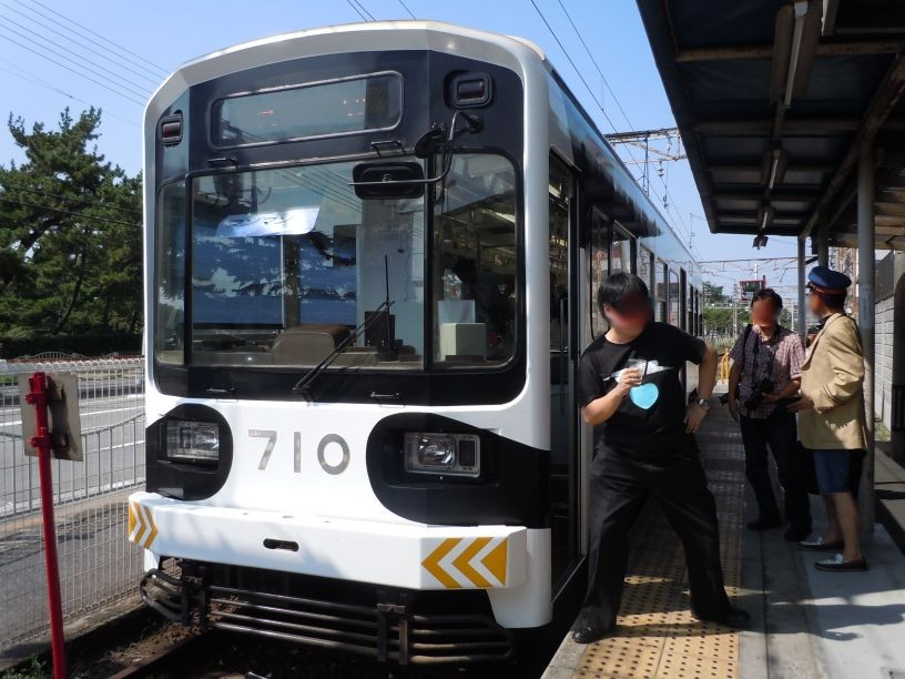 あやこ先生の主催による、阪堺電車(ちんちん電車)貸切宴会。 ※大人の事情により顔はぼかしておりま